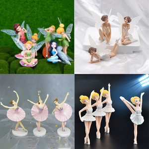 6 Pcs/set Fairy Garden Miniatures DIY Ornament Decoration for Craft Ornaments Home Decoration Cartoon Gifts Desk Car Cake Decor(China)