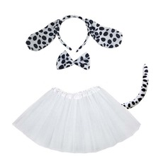 Cosplay-Set Halloween-Costumes Dalmatian Party Black Baby Kids Women for Shower Birthday