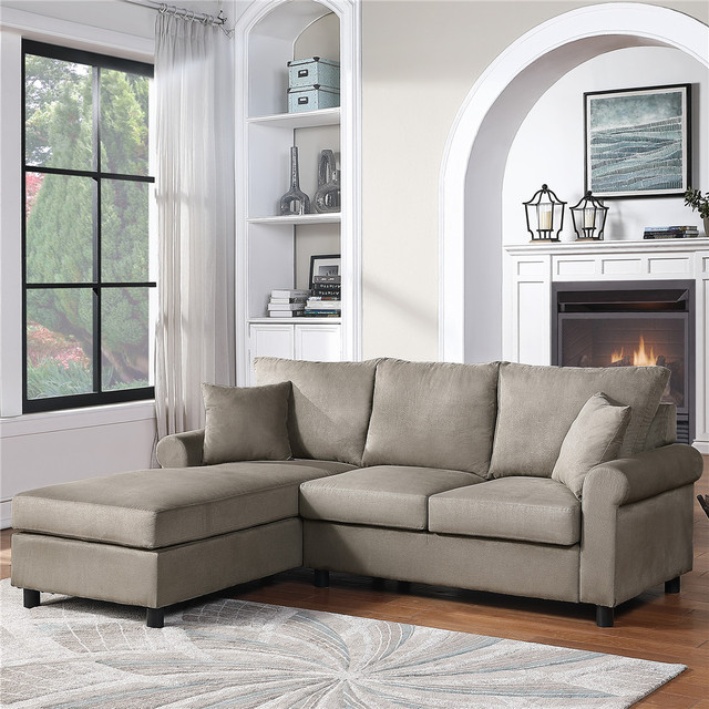 Nordic L Shaped Sectional Sofa Couch  4