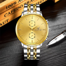 ORLANDO Men Watches Fashion Luxury Business Watch Men Gold Watches Silver Gold Stainless Steel Quartz Man Watch reloj hombre valia business style silver case men quartz watch