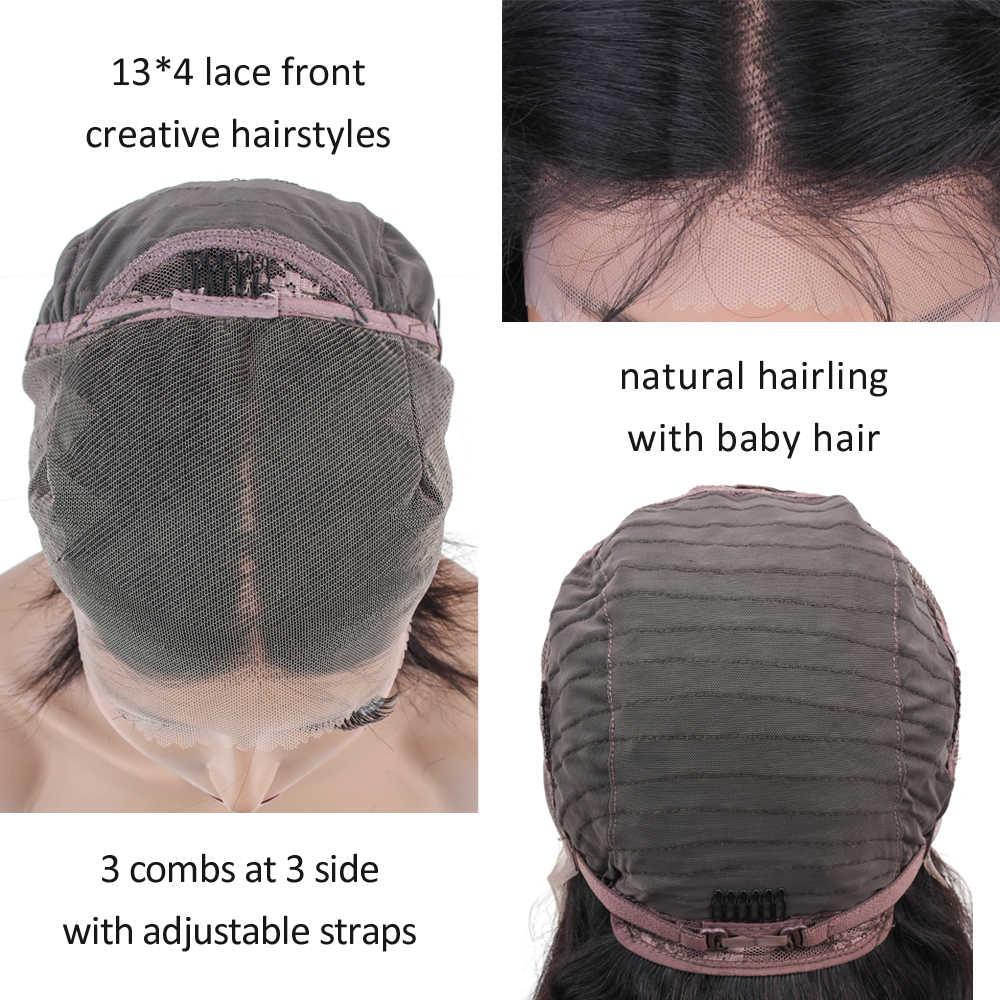 ALLRUN 4*4 синтетические волосы на шнурках парики бразильские прямые волосы средняя часть парики натуральные не Реми Короткие парики
