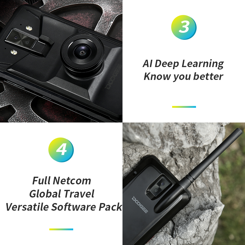 """Image 4 - Doogee S90 Pro Modular Rugged Mobile Phone IP68 Helio P70 6.18"""" Display Octa Core 6GB 128GB 16MP+8MP Android 9 12V2A SmartphoneCellphones   -"""