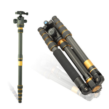 hot sale Pro Q-777c carbon fiber tripod portable slr camera Q777C tripod monopod Variable Alpenstock 3 in1 wholese free shipping