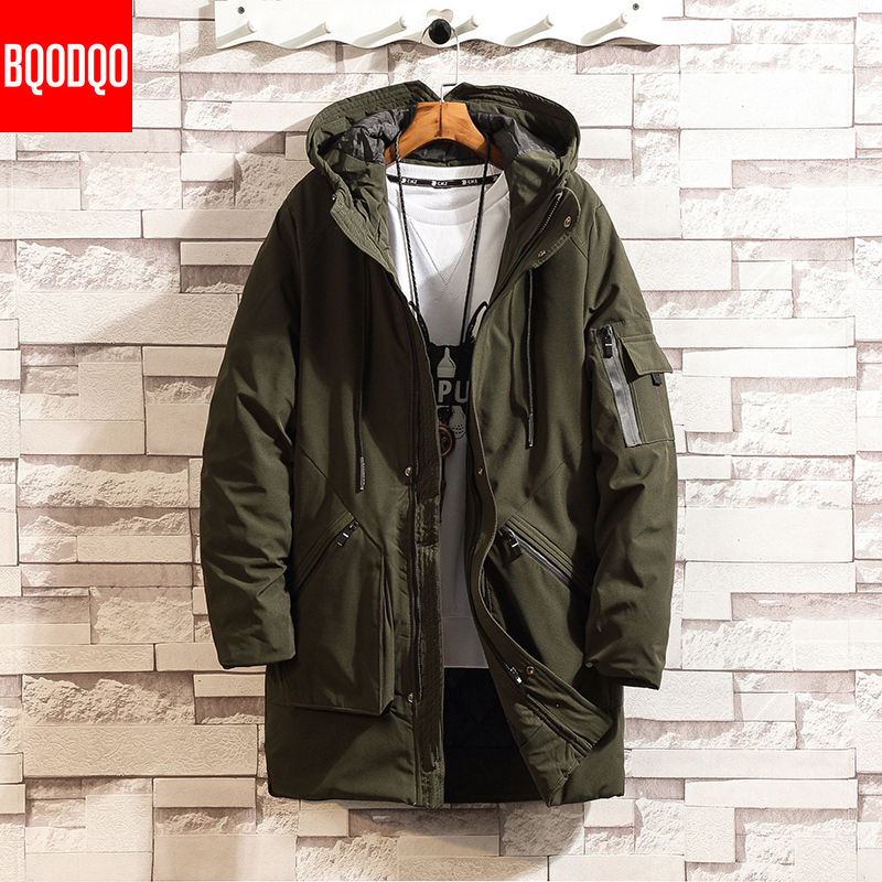 Winter Long Parkas Jacket Hooded Men Black Thick Warm Army Green Military Jackets Tactical Windproof Streetwear Trench Coat 5XL