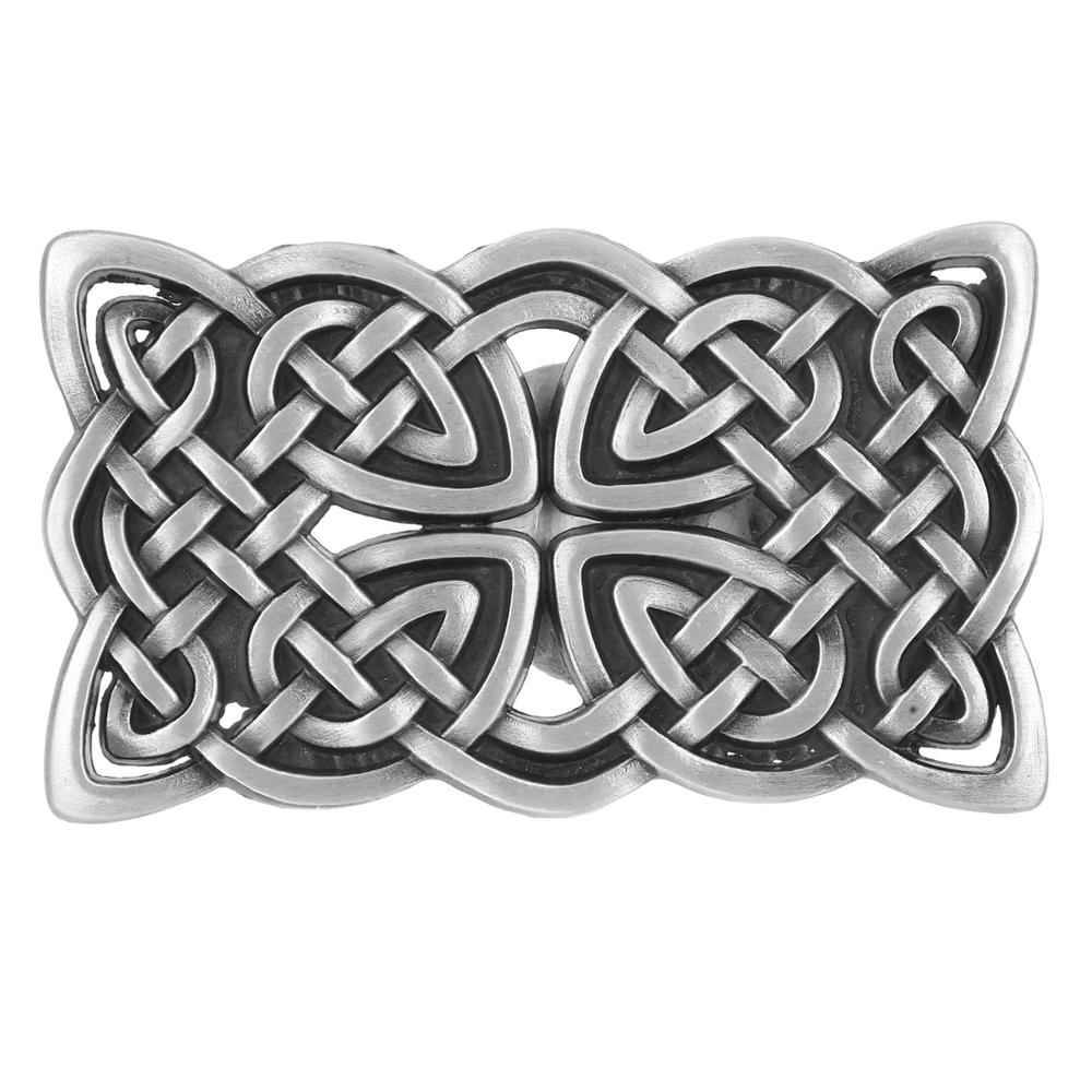 Classic Silver Square Pattern Belt Buckle Western-style Jeans Accessories Suitable For 4CM Belt
