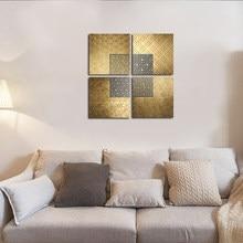 Arte da parede de luxo nórdico moderno abstrato linha cartazes geométrico ouro pintura da lona imagens modernas para o quarto sala estar decoração