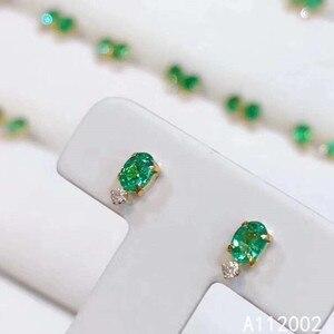KJJEAXCMY fine jewelry natural Emerald 9