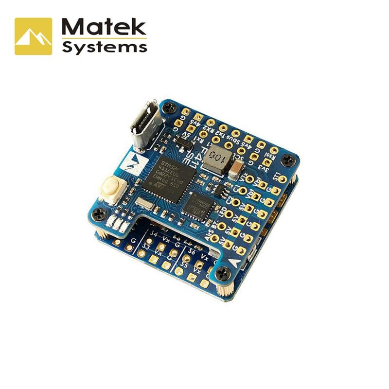 Новый Контроллер полета Matek System, встроенный контроллер полета STM32F411CEU6, OSD 2-6S для радиоуправляемого самолета, фиксированного крыла, аксессуар...