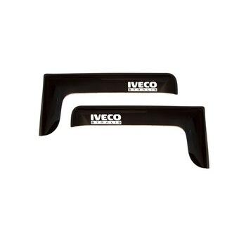 Finestra deflettore 2 PCs Iveco Stralis, patch, 3 M nastro adesivo, nastro adesivo smoky (Salice