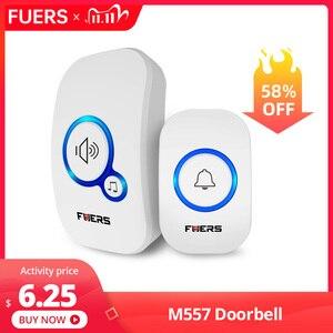 Image 1 - Fuers Wireless Doorbell Welcome bell Intelligent Home Door bell Alarm 32 Songs Smart Doorbell Wireless bell Waterproof Button