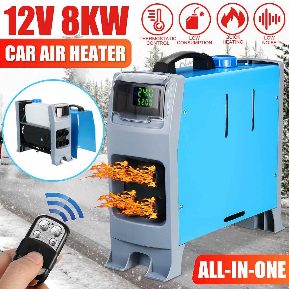Chauffe-Air électrique tout-en-un pour voiture   8000W, 4 trous, chauffage rapide de l'air, moniteur LCD, Parking, pour bateau et Bus RV, 8KW, nouveau