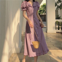 Französisch Stil Retro Minderheit Frauen Neue Taille-Enge Maxi Sommer Lange Party Elegante Büro Casual Kleid Tuch Vintage Dame kleider