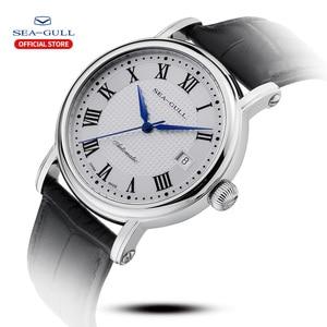Image 2 - Seagull 2019 novo relógio de negócios casal relógio mecânico 50 metros à prova dwaterproof água couro moda masculino relógio 819.368