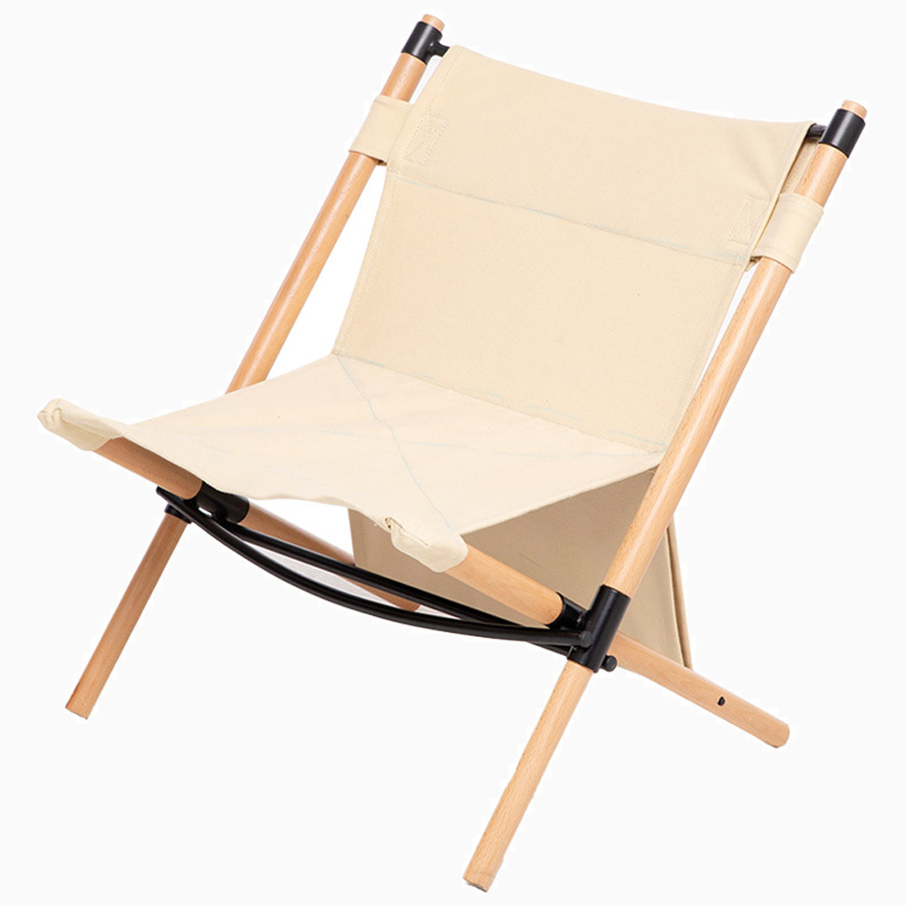 HooRu Wooden Leisure Chair Beach Camping Fishing Deck Chairs Portable Outdoor Folding Picnic Backpacking Lounge Stool Recliner