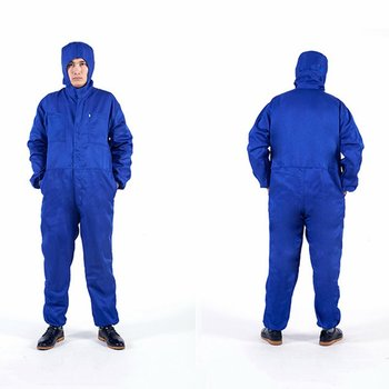 Work Clothes Overalls With Cap Long Sleeve Workshop Dustproof Wear Resistant Electric Welding Labor Protective Worker Clothing
