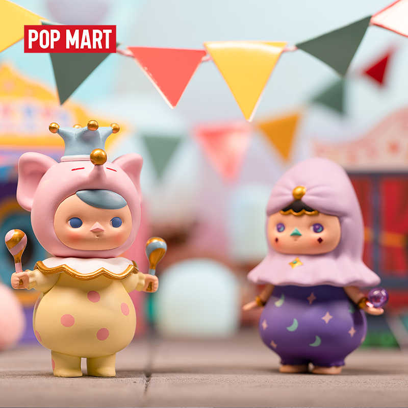 POPMART Pucky Circus juguetes figura caja ciega Regalo de Cumpleaños envío gratis