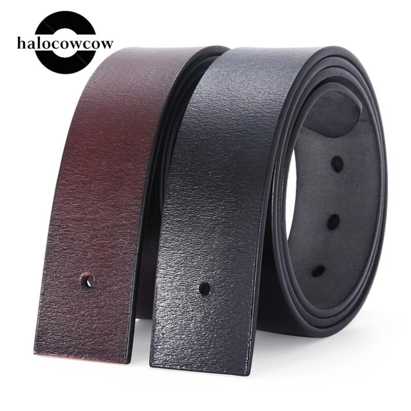 Vintage 3.8cm Width Pin Buckle Belt No Buckle Men's Genuine Leather Belt Without Buckle For Men Brown Black Belt Body