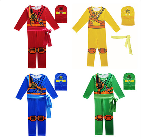 Phantom Ninja Kids Cosplay Costume, Halloween Costume For Kids Ninja Cosplay Superhero Combination Tight Set