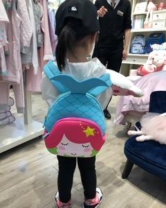 Image 5 - Детский портфель с русалочкой NOHOO, рюкзак с мультяшной картинкой, водонепроницаемый ранец для детсадовцев, школьников, малышей, девочек