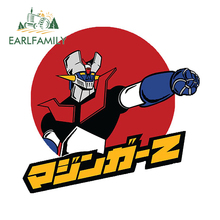 EARLFAMILY 13cm x 12.5cm For  Mazinger Z Car Stickers Personality Decals Waterproof Vinyl Anime Car Accessories Scratch Proof