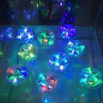Battery Powered Underwater Fountain Light Disco Spa Bathtub Swimming Pool Float Lamp LED Childrens