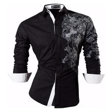 Sportrendy Men's Shirt Dress Casual Long Sleeve Slim Fit Fashion Dragon Stylish JZS048 Black цена 2017