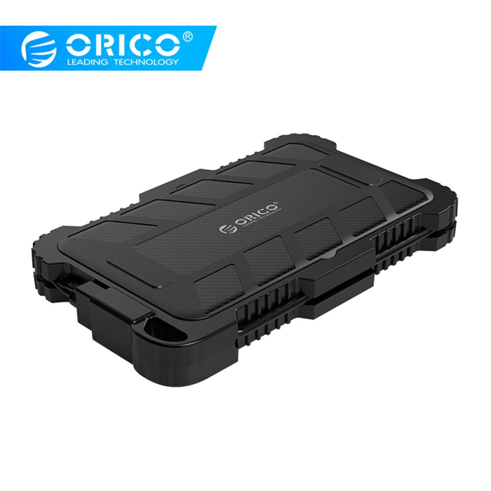 ORICO 2.5 Inch USB3.0 HDD Case With Hook For Outdoor Waterproof Shockproof Dustproof Hard Disk Box For HDD SSD Enclosure
