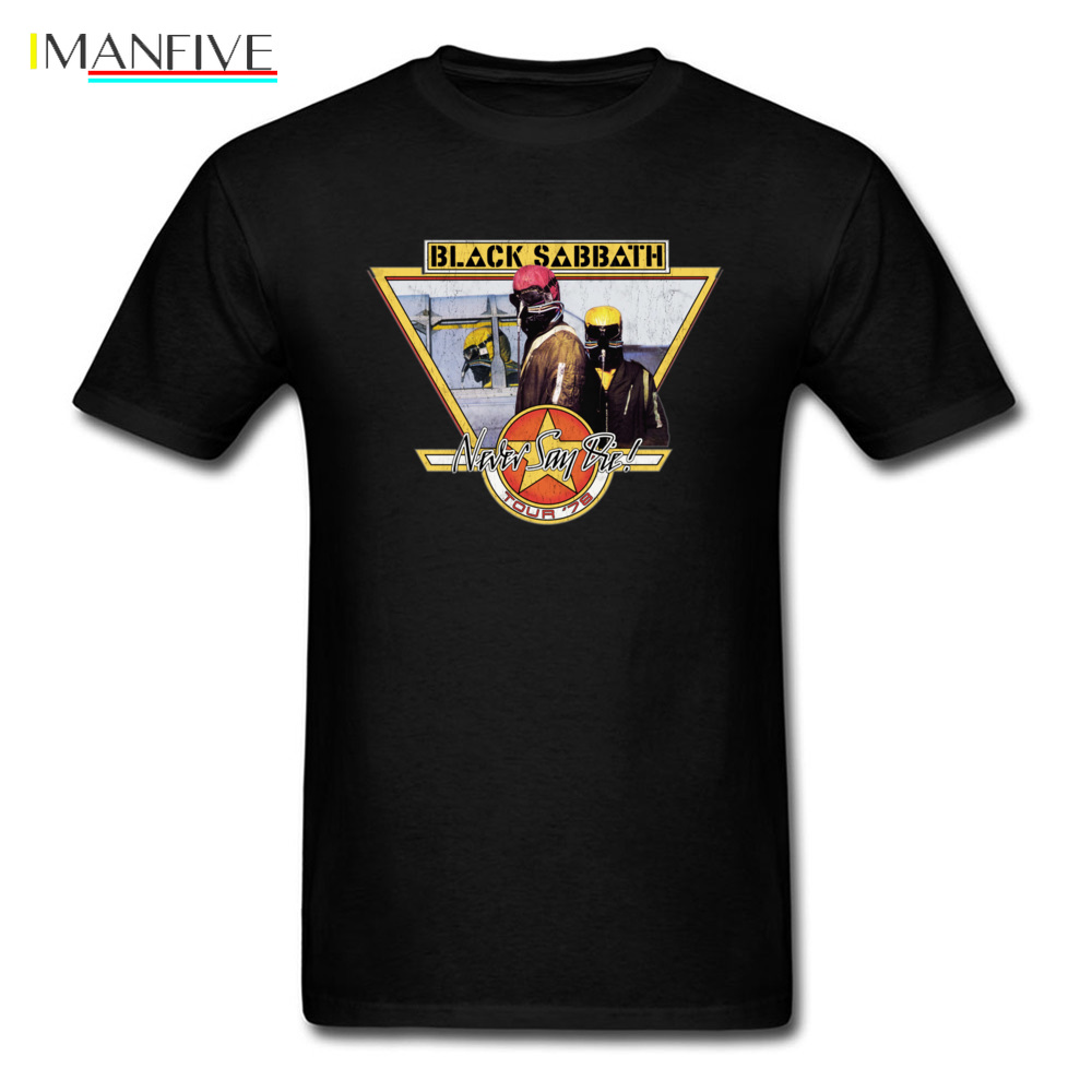 T shirt Black Sabbath T Shirt Men Never Say Die Tshirt Punk Tees Hip Hop Tops Fashion Band Clothes Cotton Streetwear in T Shirts from Men 39 s Clothing