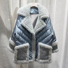 100% real wool coat winter women 90% white duck down jacket