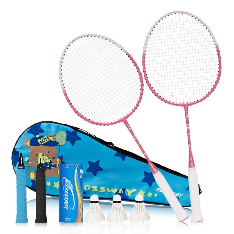 Children Badminton Racket Set Badminton Sport Training Outdoor Entertainment Equipment 1 Pair Badminton Racquet With Bag