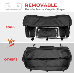 Image 3 - Czarny tylny stojak torba pakiet wsparcie Storage Pack powrót ATV dla Yamaha Big Bear 400 dla Polaris 300 dla Can Am Outlander 400
