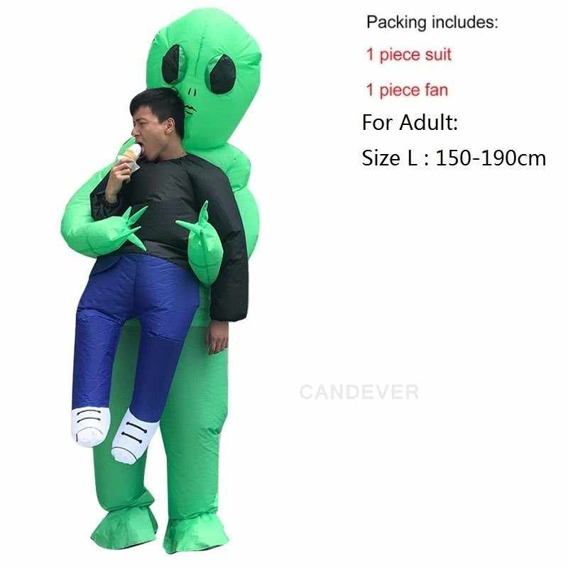 Adult//Kid Inflatable Costume Halloween Green Alien Carrying Me Party Cosplay New