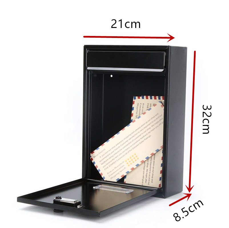 32X21X8.5CM Vintage Wall Mounted Mailbox With Combination Lock Metal Coded Lock Letterbox Post Newspaper Box F5062-5