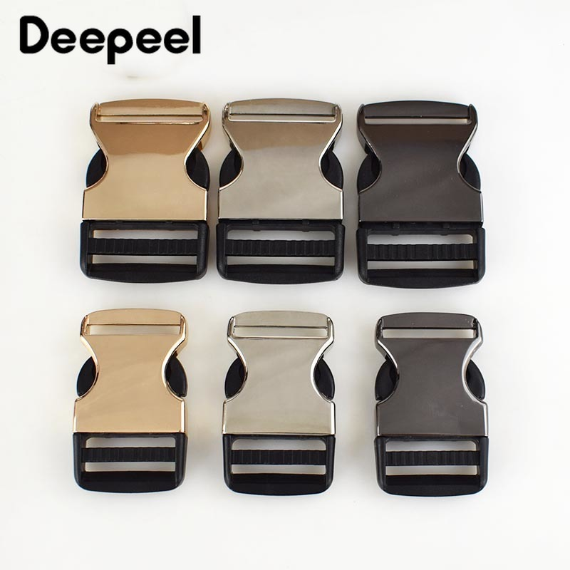 2pcs Backpack Buckles Outdoor Paracord Bracelet Dog Collar Webbing Release Metal Buckle Safety Clasp DIY Sewing AccessoriesKY526