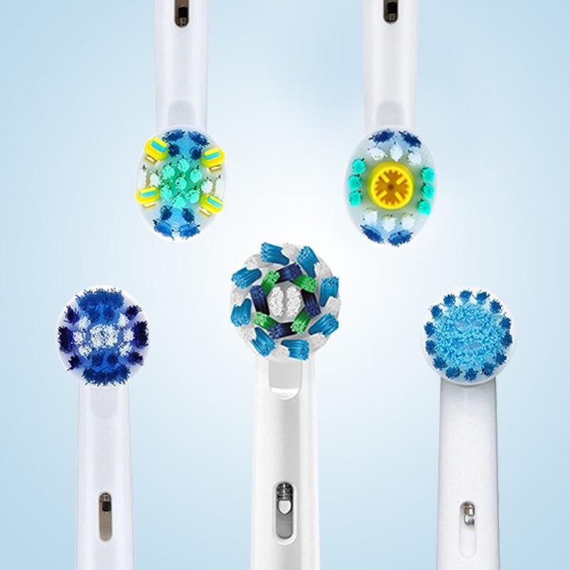 Cabezales de cepillo de dientes eléctricos para Oral B piezas de repuesto accesorios de cepillo de dientes adultos acción cruzada cabezal de cepillo reemplazable 8 unds/pack