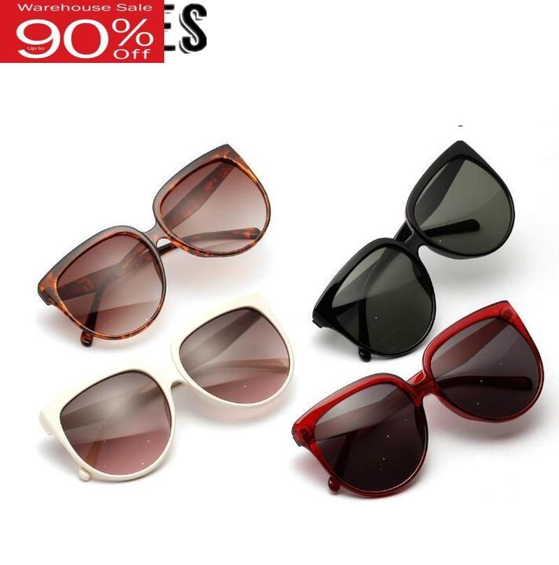 2020 Summer Women Retro Round Wide UV 400 Trendy Oversized Sunglasses