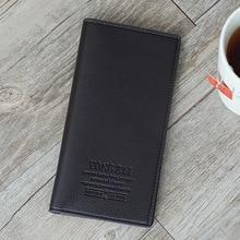 New Men's Simple Fashion Wallet Long Wallet Card Package Men Wallets  Mens Wallet Leather Genuine