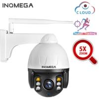 INQMEGA Cloud 1080P Auto Tracking Camera 5X optical zoom Outdoor PTZ IP Camera WIFI Speed Dome 2MP Onvif IR CCTV Security Cam