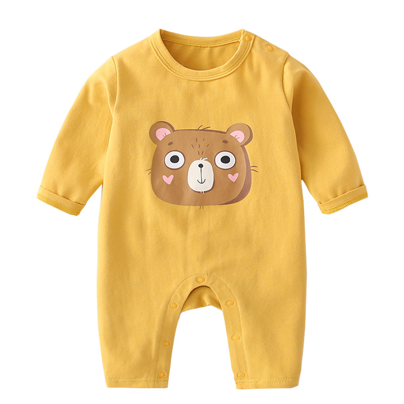 Купить с кэшбэком 2019 Baby Round Neck Jumpsuit Newborn Clothes Men and Women Baby Long-sleeved Romper Baby Suit Baby Home Service