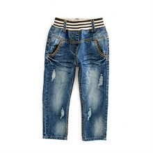 2020 Toddler pants new boy baby spring autumn leisure hole washed jeans  outdoor trousers kids clothes 2019 new boy clothes shirt sweater baby clothes fashion trousers kids vest trousers three piece suit baby leisure kids clothing