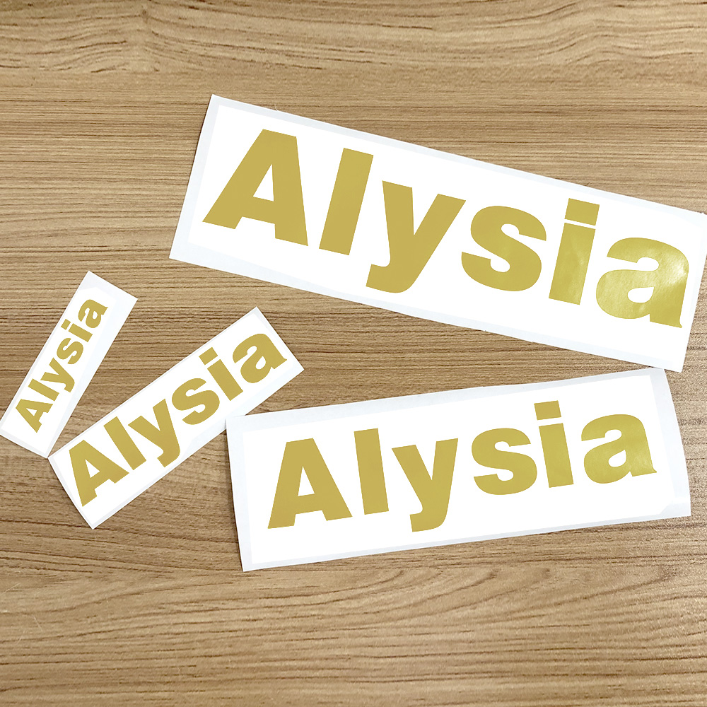 1Pcs Golden Vinyl Custom Name Cuting Sticker Personalised PVC Name Label Waterproof Tags For Water Bottle Lanch Box Room Door