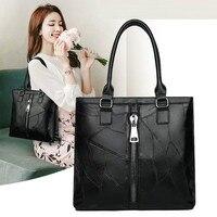 Sheepskin Handbags European and American Fashion 2019 Autumn and Winter New Women's Handbag Large Capacity Ladies Handbag Bag
