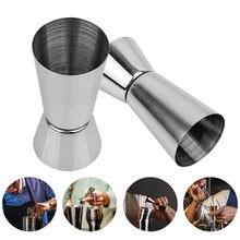 Shaker à Cocktail en acier inoxydable, 25/50ml, verre à mesurer, boisson à Double injection, Jigger, Gadget de cuisine, barman à Double esprit