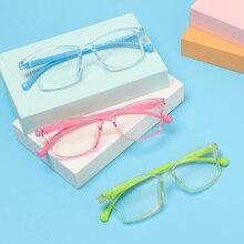 Kids Glasses Ultra-Light Frame Round Boys Anti-Blue Children Girls