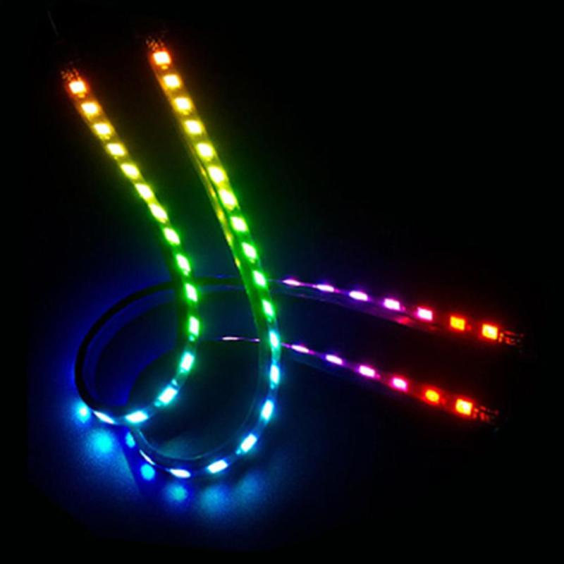 2pcs 5V 40cm ARGB Chassis LED Strip Light Bars Magnetic Adhesive PC Computer Case Waterproof Lamp Stripes Support for ASUS/MSI