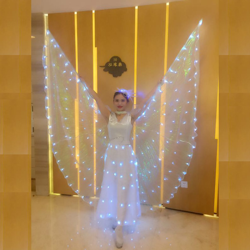 Fluorescent Butterfly Dance Wing Adult Clothing Adult Dance Cloak LED Luminous Dance Skirt Belly Dance Costume