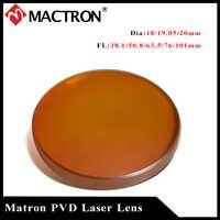 (Promoción) precio más bajo de alta calidad Mactron ZnSe PVD lente láser 20mm diámetro lente de enfoque para Co2 grabado láser Cutiing máquina