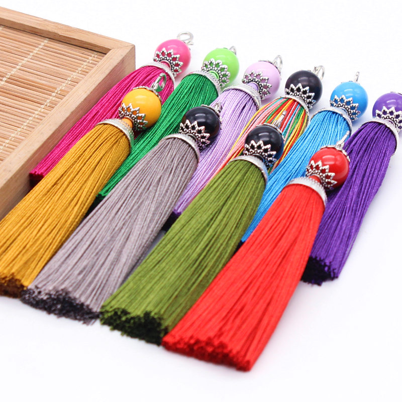 3Pcs 10.7cm High Quality Handmade for Bookmark Long Silk Tassel DIY Home Clothing Craft Jewelry Pendant Decoration Accessories