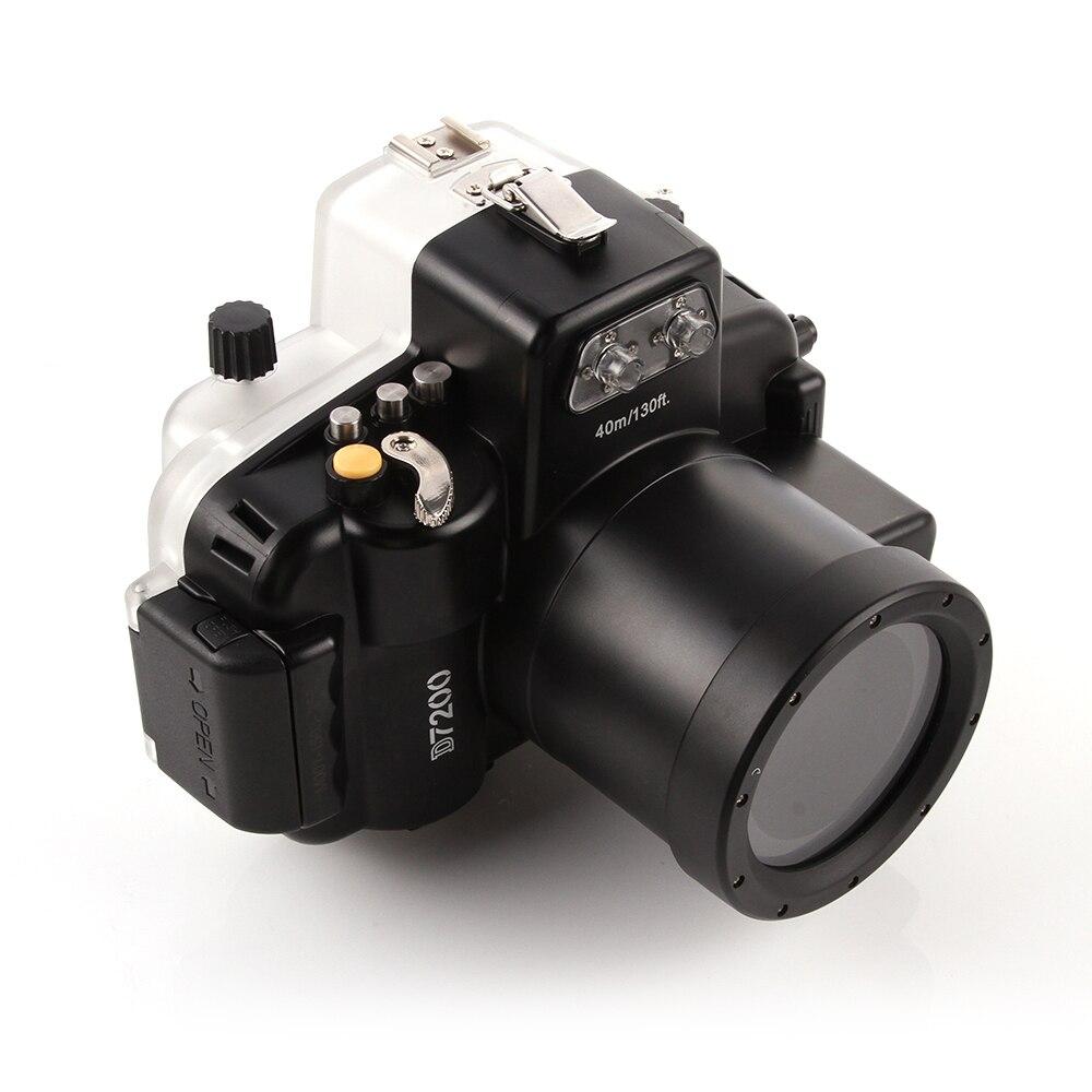 40M Waterproof Diving Underwater Camera Housing Case For Nikon D7200 Camera 18 55mmcase for nikon40m waterproofunderwater camera housing -