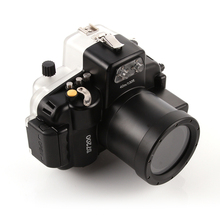 40M su geçirmez dalış sualtı kamera muhafazası çantası Nikon D7200 kamera 18 55mm